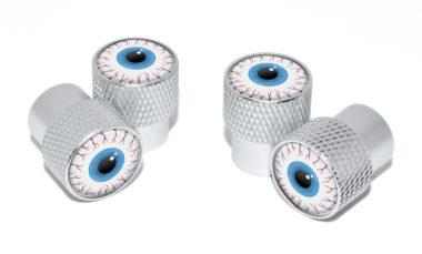 Eyeball Valve Stem Caps - Matte Knurling