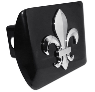 Fleur-de-Lis Emblem on Black Hitch Cover