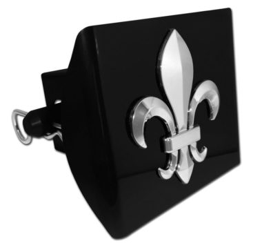 Fleur-de-Lis Emblem on Black Plastic Hitch Cover