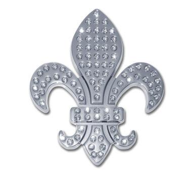 Fleur-de-Lis Crystal Chrome Emblem