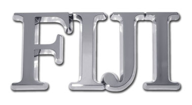 FIJI Chrome Emblem