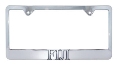 FIJI Chrome License Plate Frame