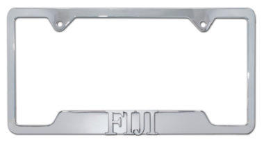 FIJI Fraternity Chrome License Plate Frame