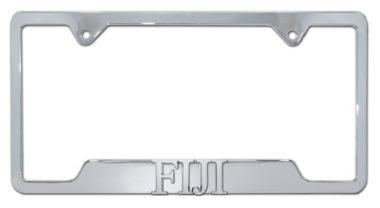 FIJI Fraternity Chrome License Plate Frame
