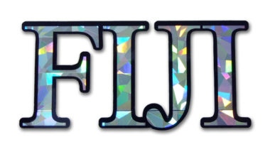 FIJI Reflective Decal