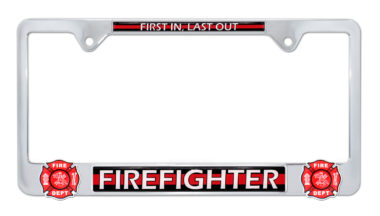 Firefighter 3D License Plate Frame image