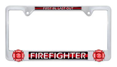 Firefighter 3D License Plate Frame image