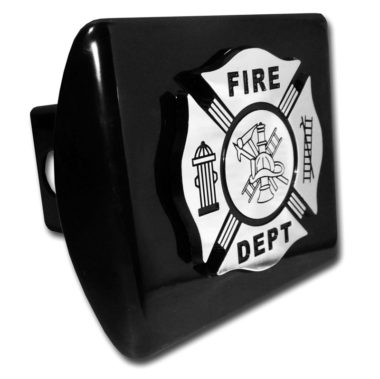 Firefighter Emblem on Black Hitch Cover image