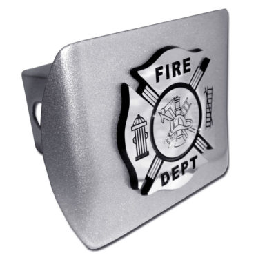 Firefighter Emblem on Brushed Hitch Cover image