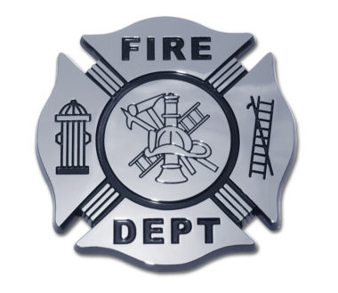 Firefighter Black Chrome Emblem image