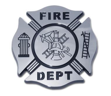 Firefighter Black Chrome Emblem