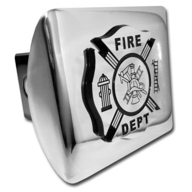 Firefighter Emblem on Chrome Hitch Cover image