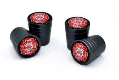 Fire Valve Stem Caps - Black Smooth image