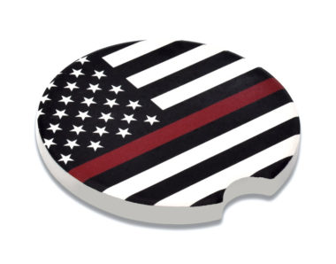 Firefighter Car Coaster - 2 Pack