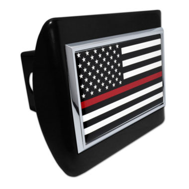 Firefighter Flag on Black Hitch Cover