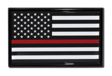 Firefighter Flag Black Emblem