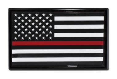 Firefighter Flag Black Emblem image