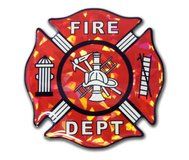 Firefighter 3D Reflective Decal image