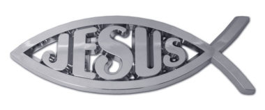 Christian Fish Jesus Chrome Emblem