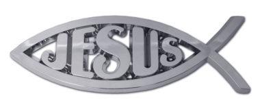 Christian Fish Jesus Chrome Emblem image