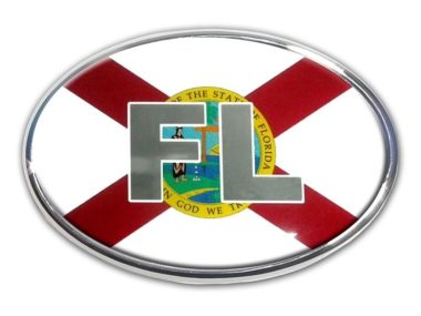 Florida Flag Chrome Emblem