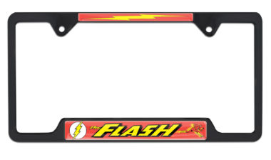 The Flash Open Black License Plate Frame