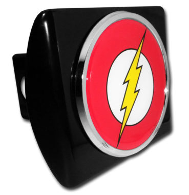 The Flash Emblem on Black Hitch Cover