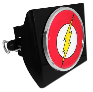 The Flash Emblem on Black Plastic Hitch Cover image