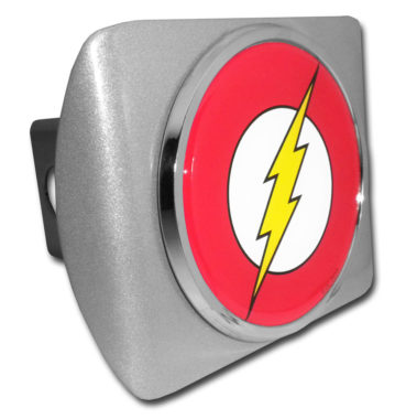 The Flash Emblem on Brushed Hitch Cover