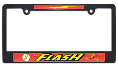 The Flash Black Plastic License Plate Frame
