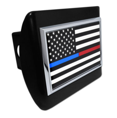 First Responders Flag Black Hitch Cover