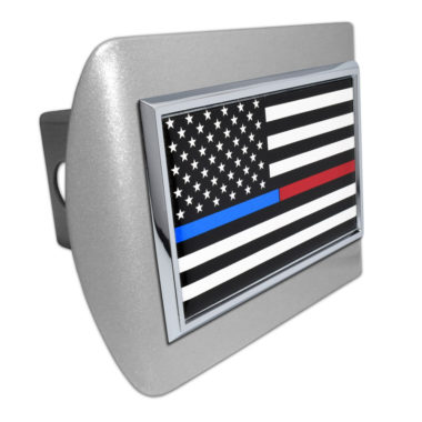 First Responders Flag Brushed Hitch Cover