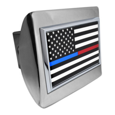 First Responders Flag Chrome Hitch Cover