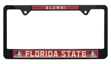 Florida State Alumni Black License Plate Frame