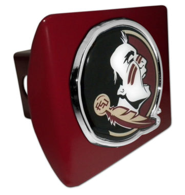 Florida State Seminole Color Emblem on Garnet Hitch Cover