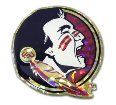 Florida State Seminole Color 3D Reflective Decal image