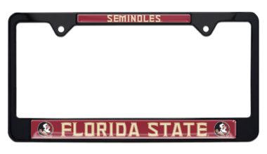 Florida State Seminoles Black License Plate Frame