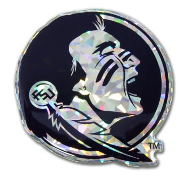 Florida State Seminole Silver 3D Reflective Decal