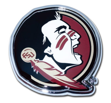 Florida State Seminole Color Chrome Emblem