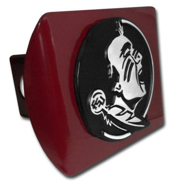 Florida State Seminole Emblem on Garnet Hitch Cover