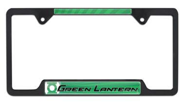 Green Lantern Open Black License Plate Frame