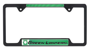 Green Lantern Open Black License Plate Frame image