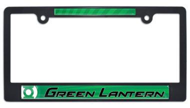 Green Lantern Black Plastic License Plate Frame