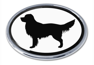 Golden Retriever White Chrome Emblem
