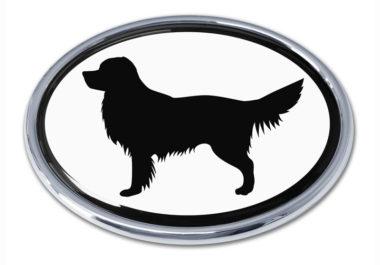 Golden Retriever White Chrome Emblem