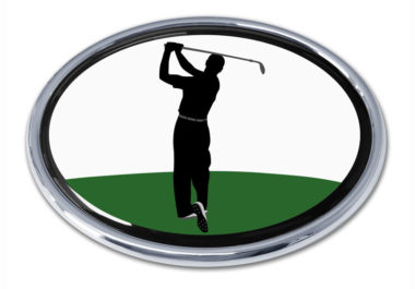 Golf Backswing Chrome Emblem