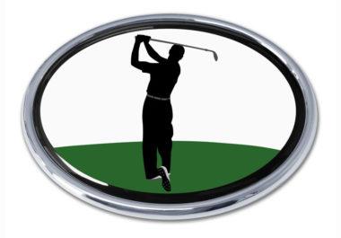 Golf Backswing Chrome Emblem