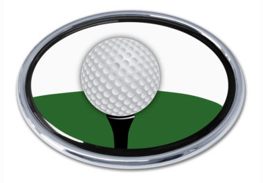 Golf Ball Chrome Emblem