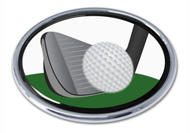 Golf Iron Chrome Emblem