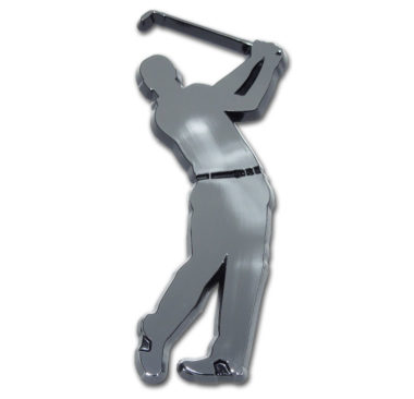Golfer Chrome Emblem
